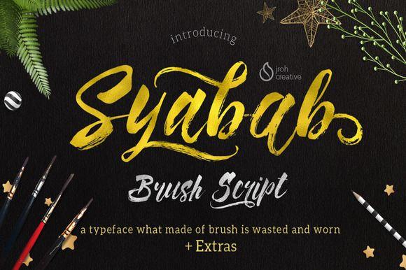Syabab Brush Script by JROH Creative on @creativemarket