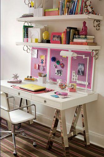 studio space: Desk Area, Home Office, Girls Room, Desks, Rooms, Bedroom Ideas, Kid