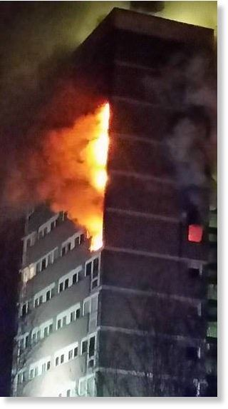 BREAKING NEWS: Four people are taken to hospital as fire breaks out in 15-storey tower block near Belfast, Northern Ireland -- Society's Child -- Sott.net