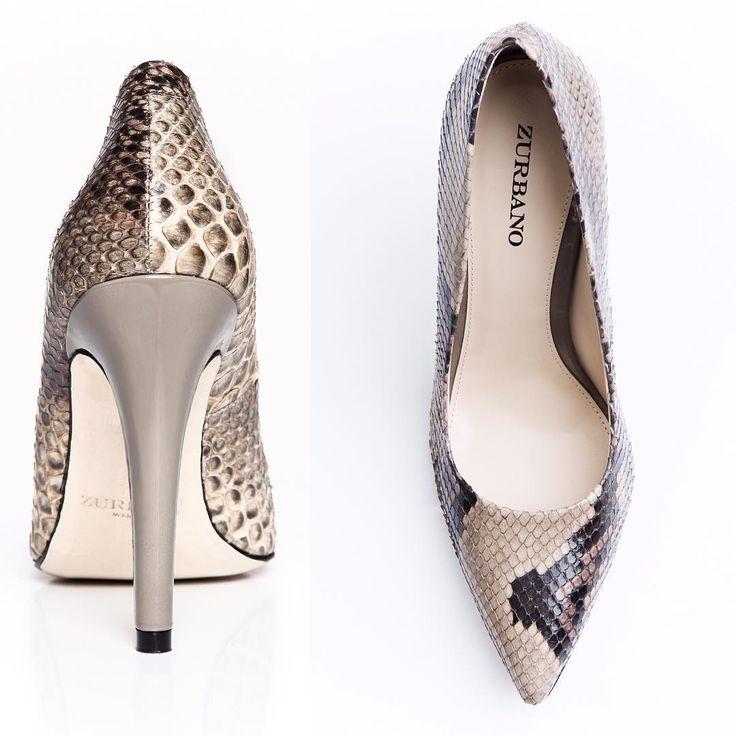 Autumn look essentials - Zurbano MELANO high heels in luxurious Python skin leather   Shop online at: www.zurbano.pl