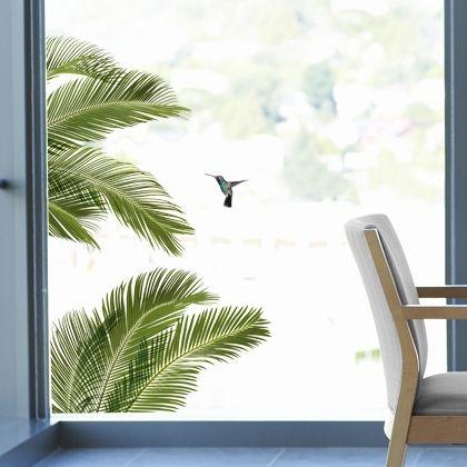 Palmes, sticker pour fenêtres, design Atelier Nouvelles Images