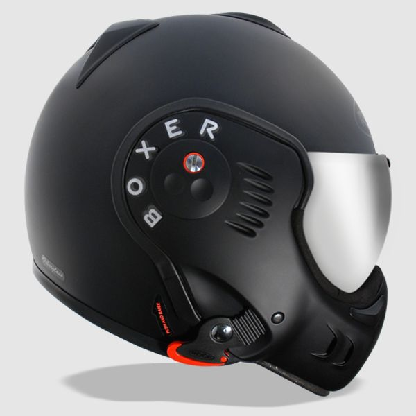 Roof Boxer V8 Black Shadow Helmet | Motorcycle helmets | Roof Motorcycle helmets | way2speed.com