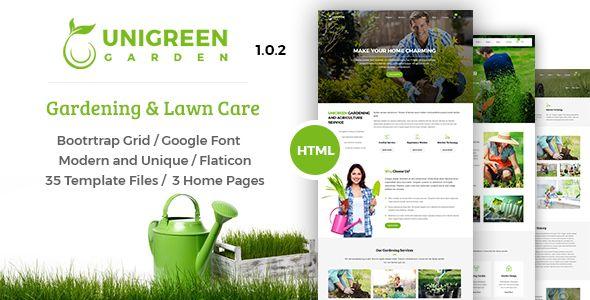 Unigreen Gardening And Lawn Care Service Html Template Http Themeforu