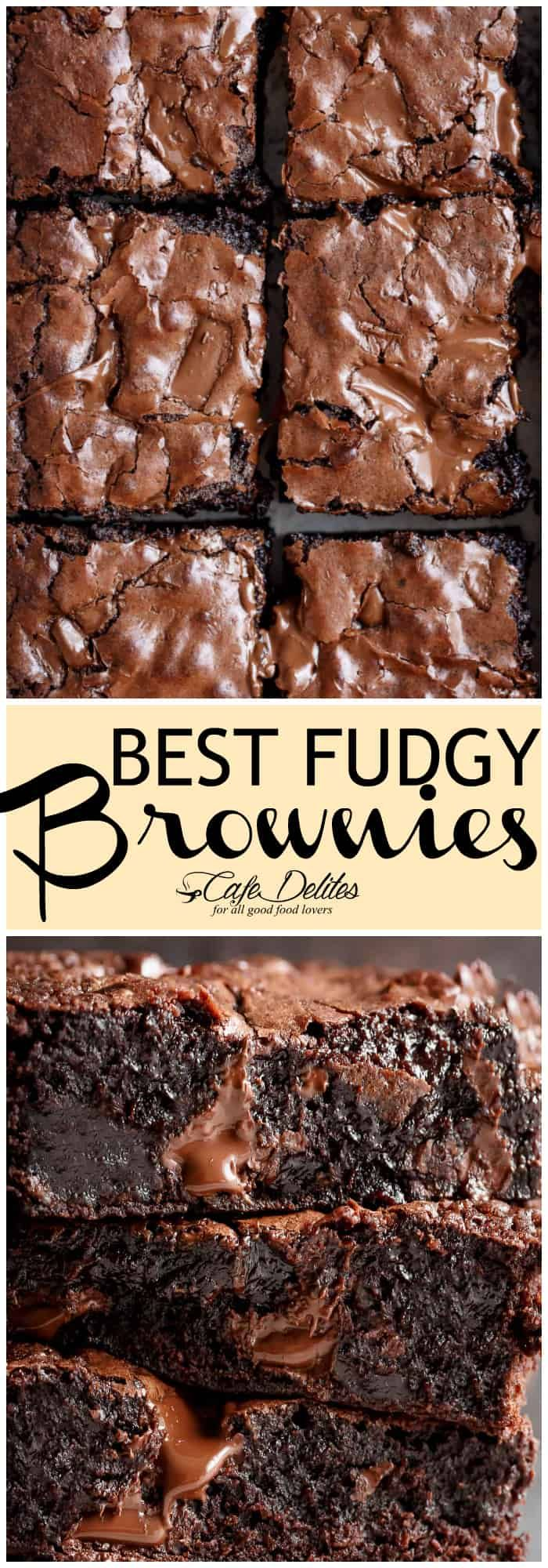 Worlds Best Fudgiest Brownies live up to their name! Perfect crisp crackly top, superfudgy centre, chewy and gooey in all the right places with melted chunks of chocolate! PLUS! Each ingredient comes measured AND weighed FOR YOU! Warning: Not for the faint-hearted. These brownies pack a serious chocolate punch!