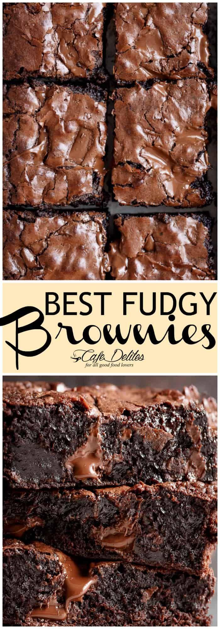 Worlds Best Fudgiest Brownies - Cafe Delites