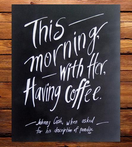 Johnny Cash Coffee Quote Art