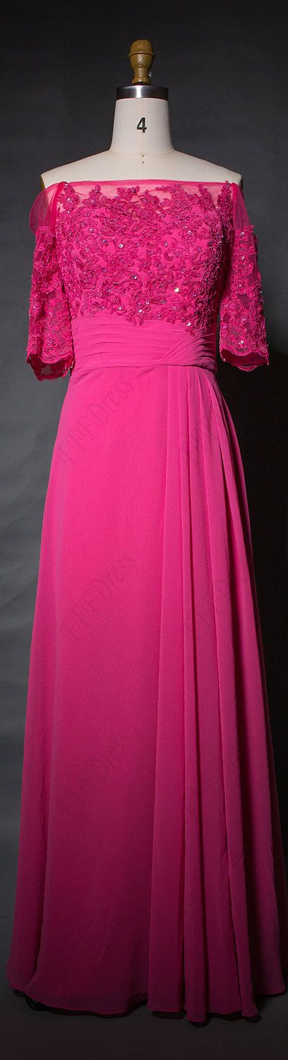 Modest bridesmaid dresses with sleeves fuchsia bridesmaid dresses off the shoulder bridesmaid gowns maid of honor dresses
