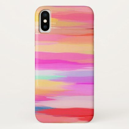 Pastel Colored Abstract Background #12 iPhone X Case - artists unique special customize presents