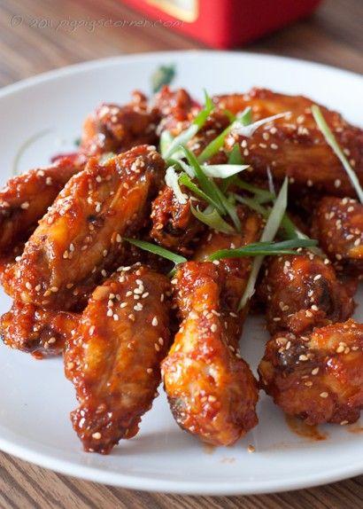 Korean Fried Chicken Wings Recipe Dishmaps