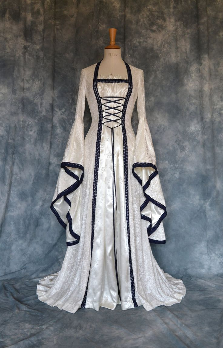 Medieval / Elvish / Pre- Raphaelite / Gothic / Renaissance / Larp / Faery / Wedding Dress