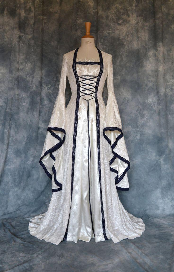 Medieval / Elvish / Pre- Raphaelite / Gothic / Renaissance / Larp / Faery / Wedding Dress