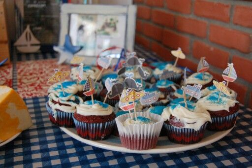 Cup cakes fête matelot #amisetautresbonheurs #diy #décoéli  2 ans