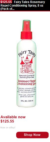 Baby Shampoos And Soaps: Fairy Tales Rosemary Repel Conditioning Spray, 8 Oz (Pack Of 9) BUY IT NOW ONLY: $125.55