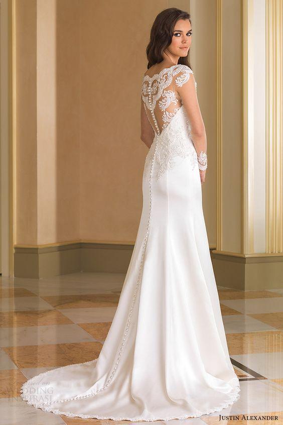 Justin Alexander Fall 2016 Wedding Dress with Long Sleeves
