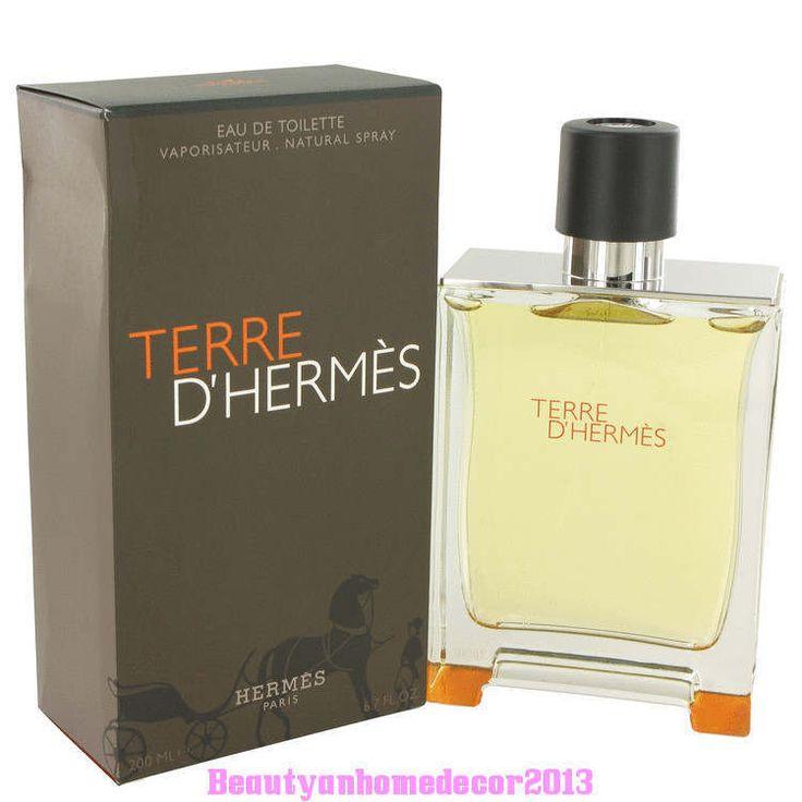 TERRE D'HERMES BY HERMES MEN COLOGNE 6.7 OZ EDT SPRAY NIB SEALED #Hermes