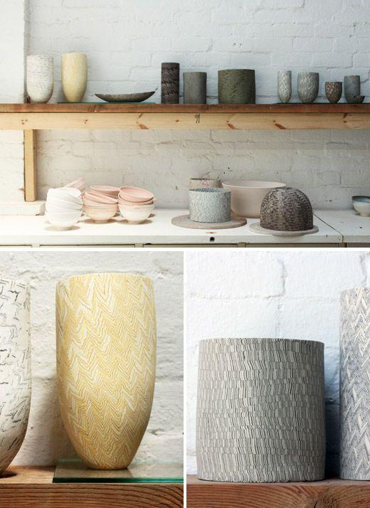 David Pottinger ceramics: Colors Pallets, Based Ceramics, Ceramics Porcelain, Design File, Wonder Texture, Amazing Patterns, Ceramics Artists, Texture Ceramics, Artists David