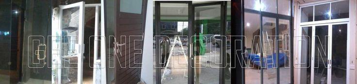 pintu kaca | pintu aluminium | pintu lipat | pintu geser | pintu swing
