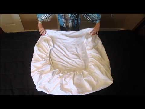How to Fold a Fitted Sheet Perfectly Every Time! - YouTube