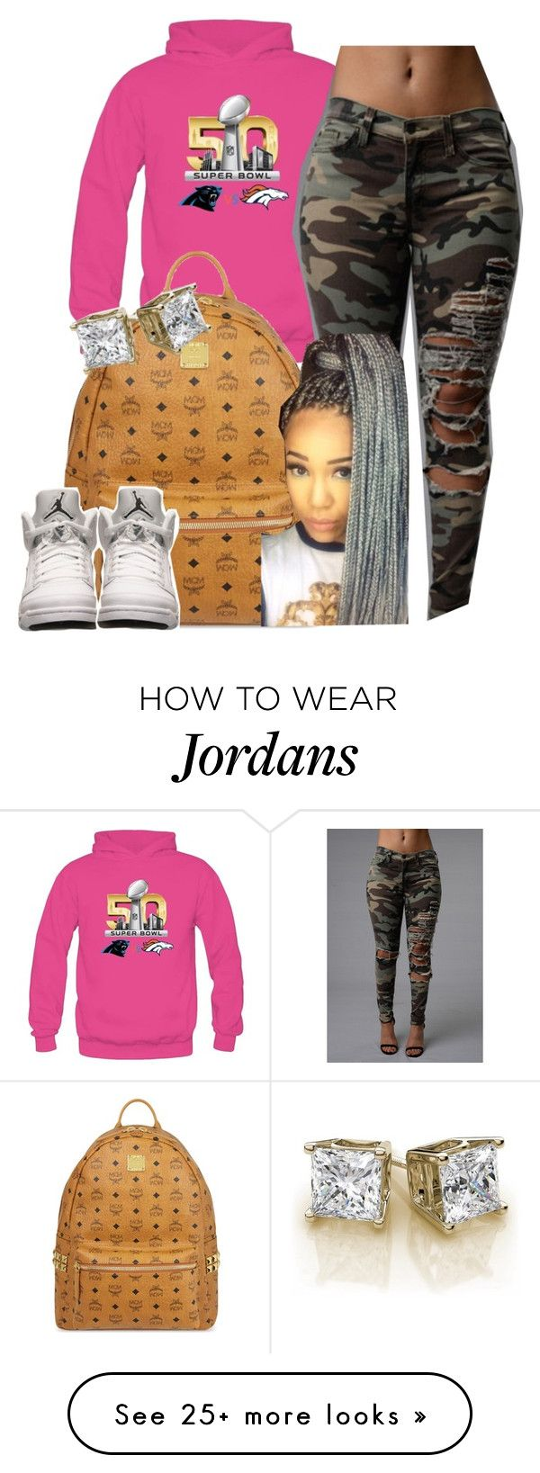 """Super bowl !!! #Puppymonkeybaby "" by newtrillvibes on Polyvore featuring MCM, Retrò, women's clothing, women, female, woman, misses and juniors"