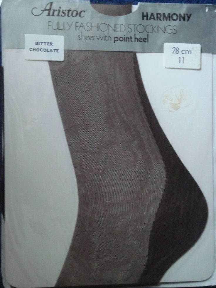 Vintage Aristoc Harmony Fully Fashioned Stockings Size11 Colour Bitter Chocolate £33.51