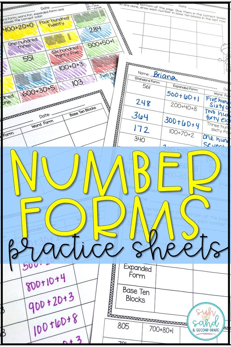 Best 25 expanded form worksheets ideas on pinterest standard are you trying to reinforce number forms standard form expanded form word form falaconquin
