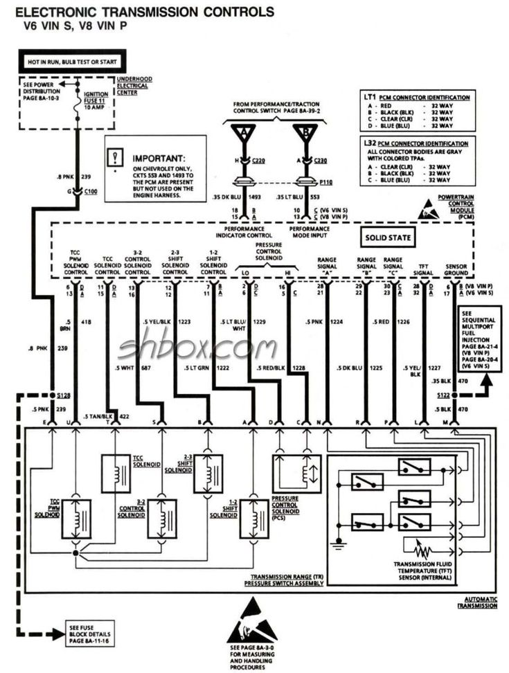Wiring Diagram 4l60e Automatic Transmission Parts Diagrams And 4l60e