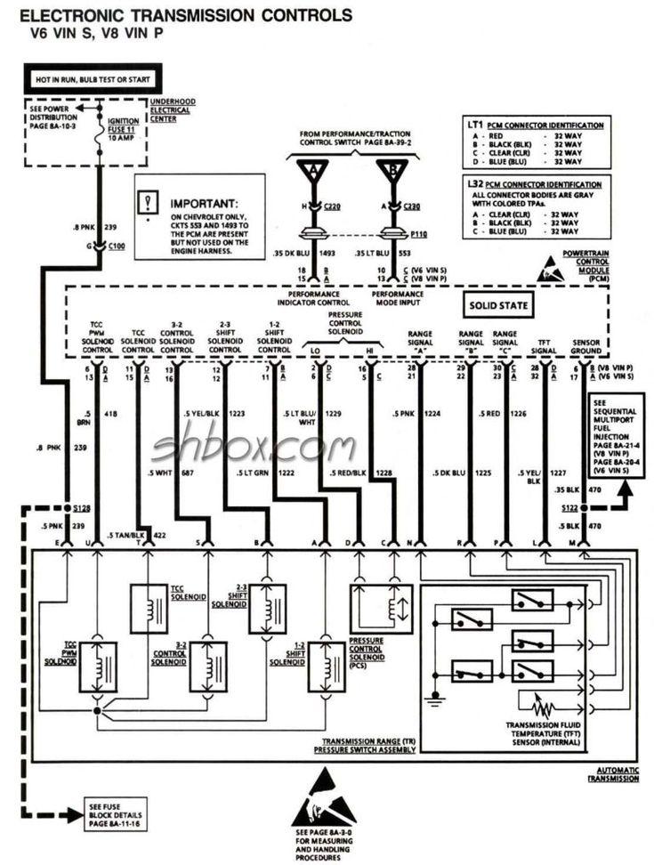 Wiring Diagram 4l60e Automatic Transmission Parts Diagrams