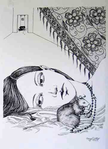 Amy Cutler - She Let Them Come (pen and ink)