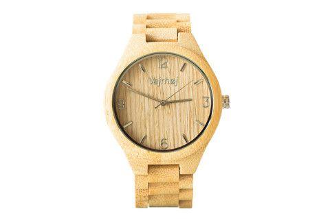 Træ ure - Beige 50