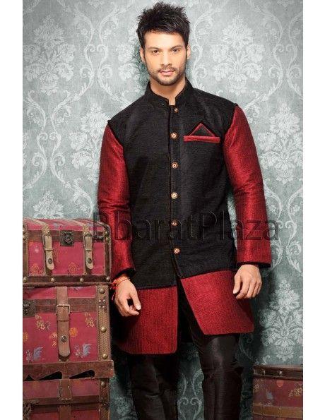 Black Jacket Pattern Kurta Item code : SKB2309 https://www.facebook.com/bharatplazaportal https://twitter.com/bharat_plaza