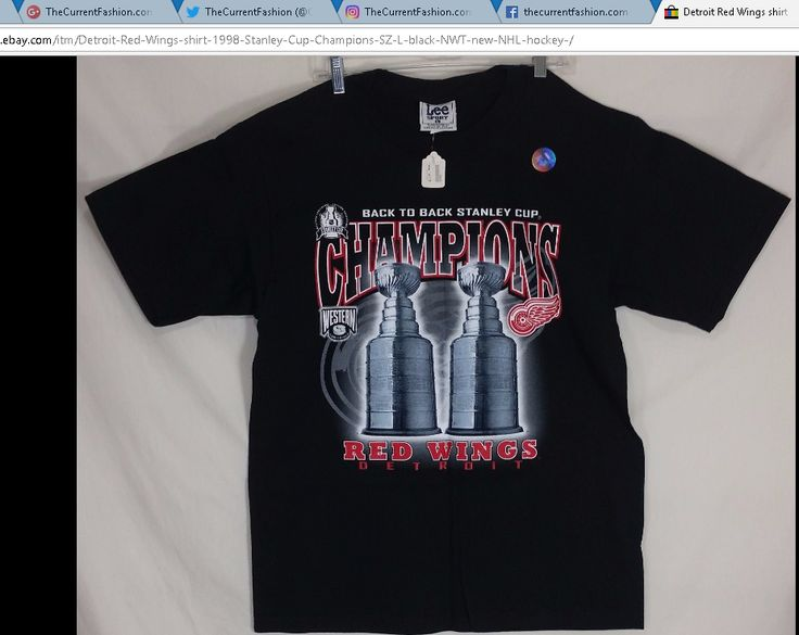 Detroit Red Wings shirt 1998 Stanley Cup Champions NHL hockey , new with tag http://stores.ebay.com/thecurrentfashion?_dmd=2&_nkw=NHL | #TheCurrentFashion #style #fashion #eBay #eBayFashion #shirt #tshirt #newshirt #newtshirt #nwt #hockey #icehockey #RedWings #LGRW #RedWingsHockey #Detroit #DetroitProud #Hockeytown #Michigan #MichiganHockey #hockeyislife #StanleyCup #backtoback #champions #1998StanleyCup #NHL #NHLshirt #sports #hardtofind #1998