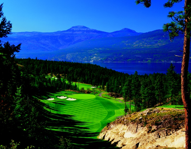 Kelowna, British Columbia  Shown here is the par-4 sixth hole on The Ridge Course at Predator Ridge.