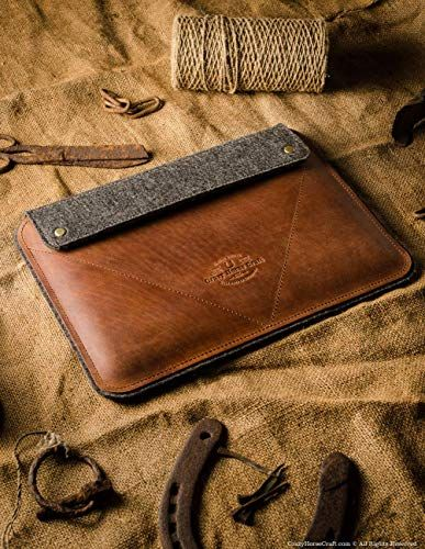 check out 32fc0 3dd48 Amazon.com: New 2018 iPad Pro 12.9 inch leather case | Classic Brown ...