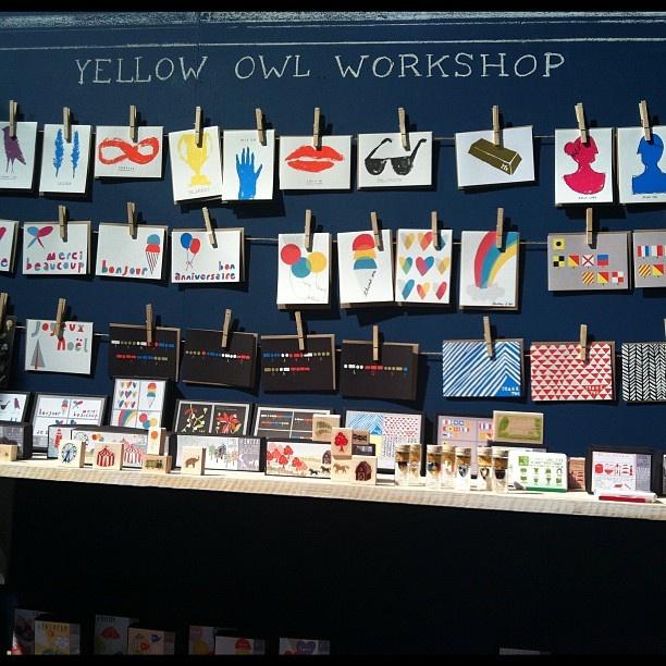 Yellow Owl Workshop (chalkboard) #NSS 2012