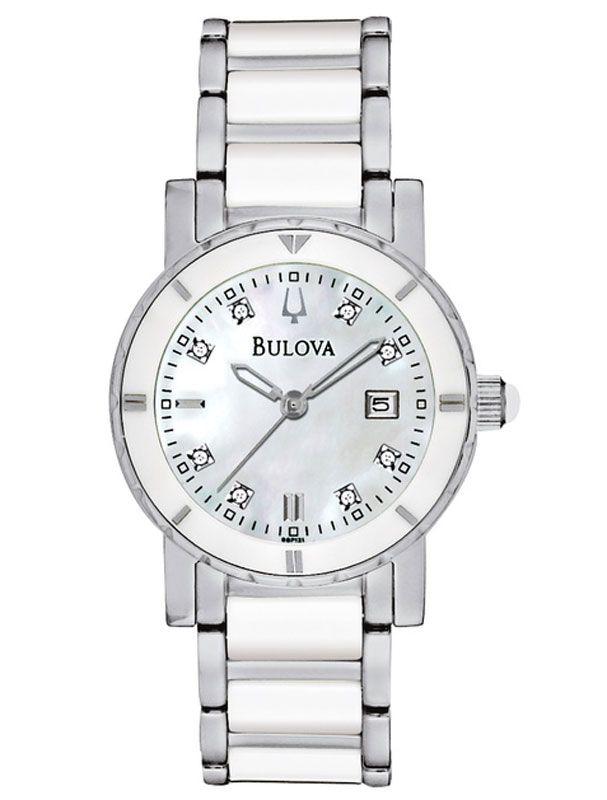 Womens Watches - Bulova 98P121 Women's Dress Stainless Steel Diamond Watch
