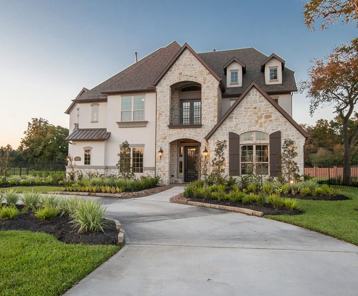 Stone And Stucco Homes Texas : Gorgeous white home exterior in missouri city texas