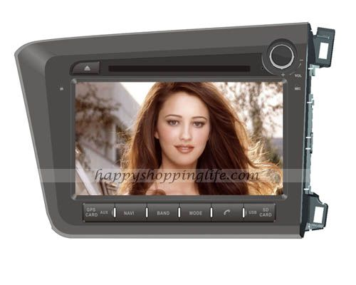 Android DVD Player for Honda Civic 2012 RHD Navigation Wifi 3G