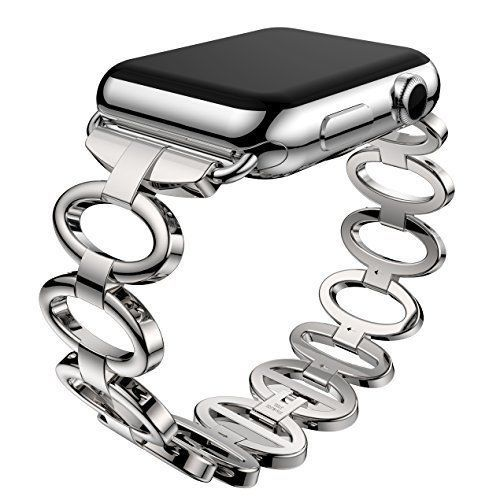 Apple Watch Band 38mm iWatch Series 1 & 2 Staineless Steel Elliptical Silver #WatchBand