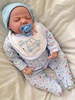 Ycn Reborns, nouveau-né poupée, Reborn bébé garçon, Andy, réaliste en vinyle souple, gratuit tétine aimantée
