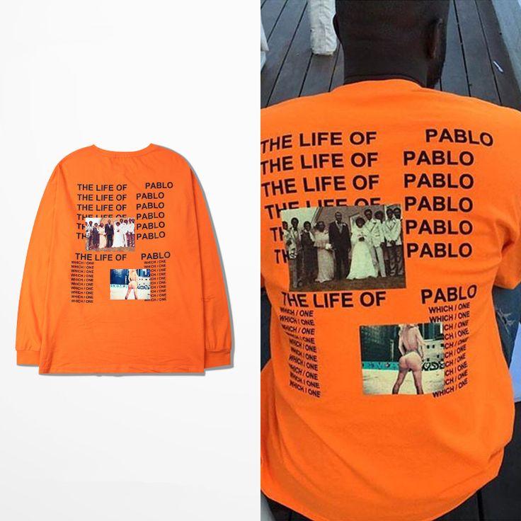 Kanye West Yeezy The I Life Of Pablo Kanye T shirt Men Summer Brand Clothing T-Shirt I Feel like Paul  Kanye Orange Tee
