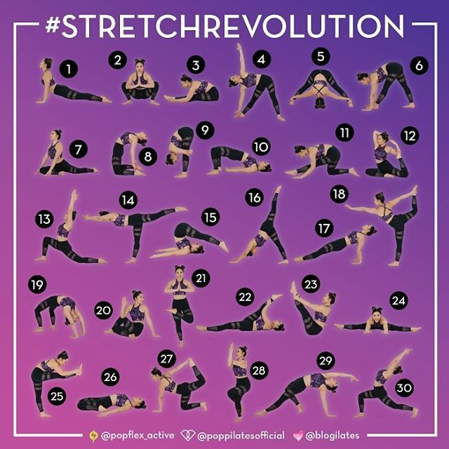 """Ok so y'all said you wanted to get flexy with me in March so here's your challenge! Join the #StretchRevolution!!! Stretch all 30 days and you could walk away with the ULTIMATE @popflex_active prize of your dreams.  Rules!  1️⃣ Like this pic and comment """"I'm in!"""" 2️⃣ Regram this pic! 3️⃣ Follow @blogilates, @poppilatesofficial, and @popflex_active 4️⃣ Post all 30 days of the challenge and #StretchRevolution.  I'll tell you what t..."""
