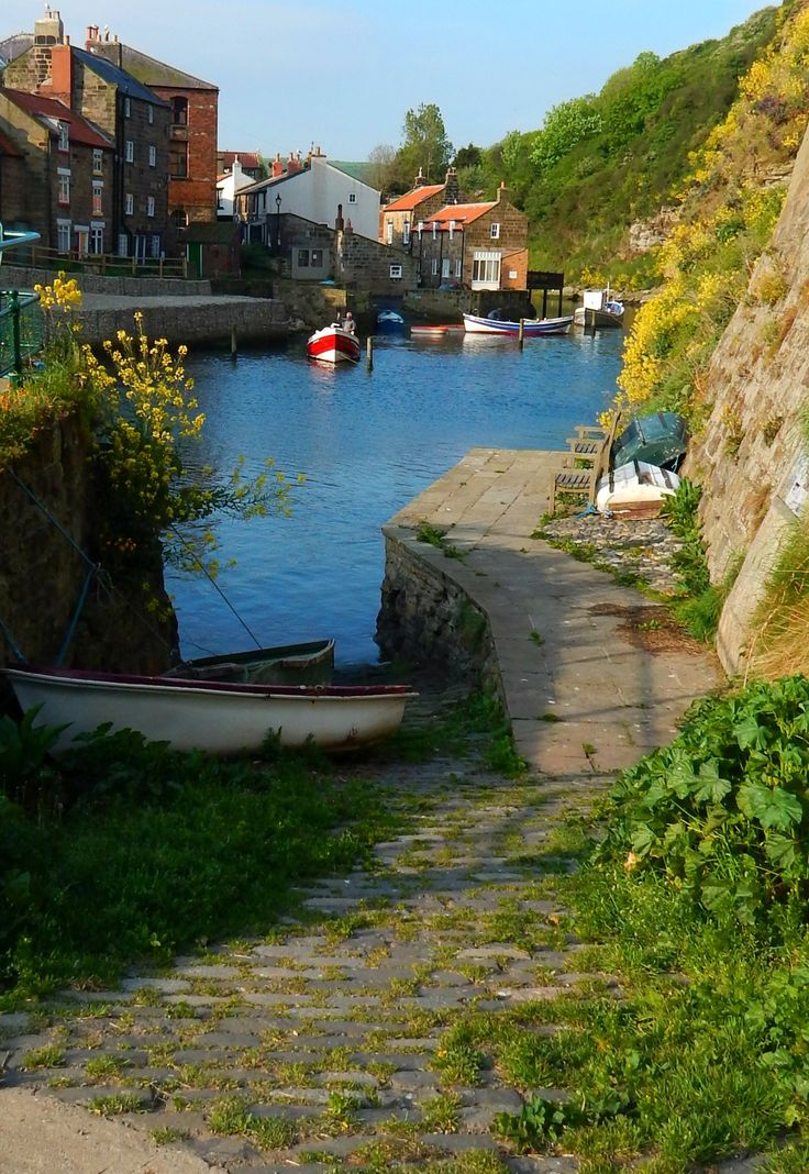 Staithes, North Yorkshire, England, UK
