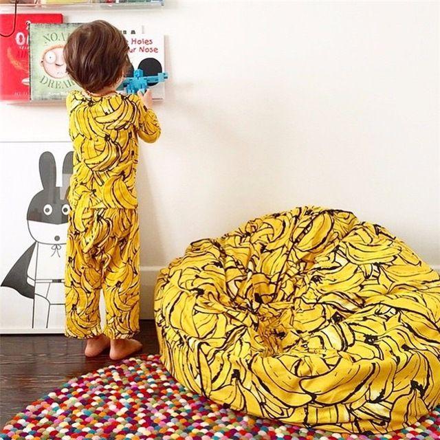 Супер Удобный Диван Ленивый Банан Мешок Фасоли Одиноких Взрослых И Детей Все Имеющиеся Погремушка Лучший Подарок Для ребенка Рождество 2016