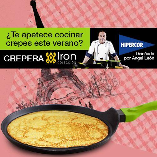 Este verano apuesta por la cocina francesa. Prepara deliciosos crepes con Iron by Ángel León. Esta batería de cocina está disponible en Hipercor con un descuento del 25% ¡Aprovecha!