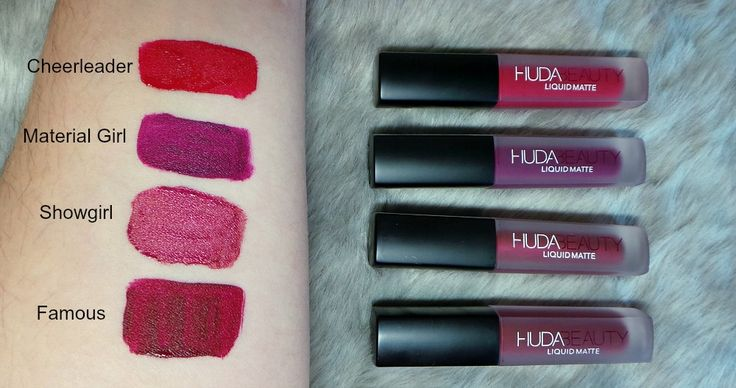 Huda Beauty Red edition Liquid Matte Minis swatches