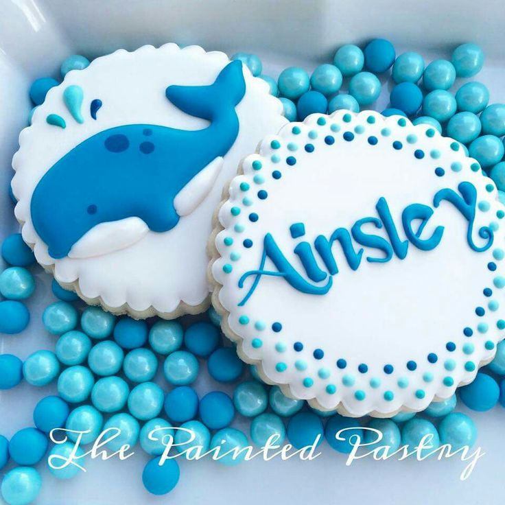 The Painted Pastry:  Whale cookie.  Water-themed cookies.