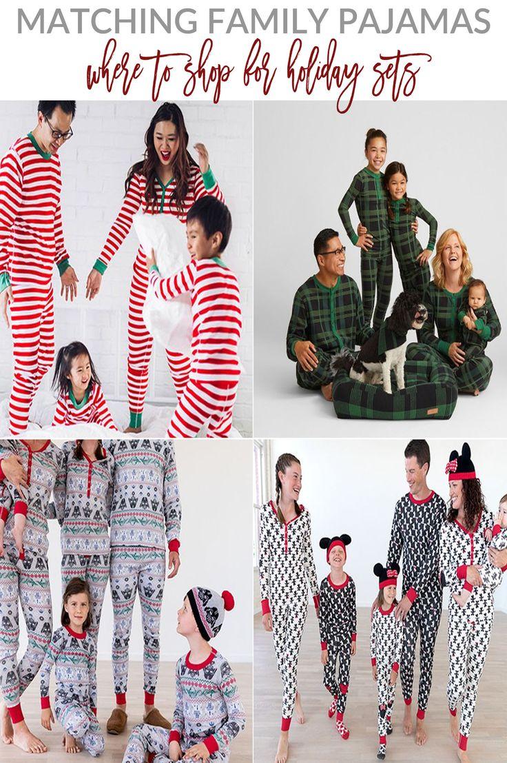 Matching Family Pajamas | Best Places to Shop | Sandy A La Mode