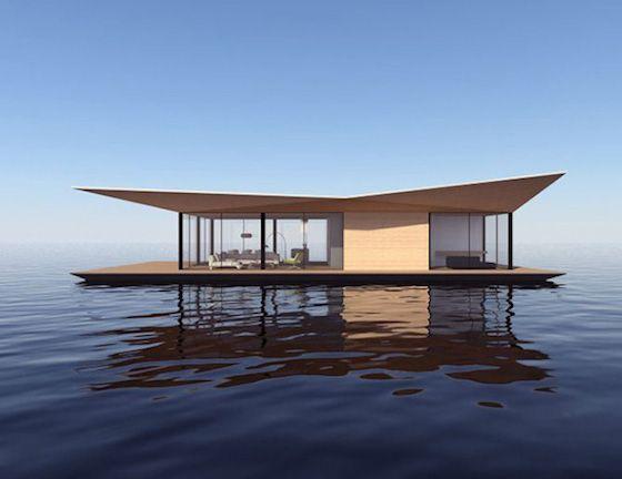 móveis que combinam com casas flutuantes
