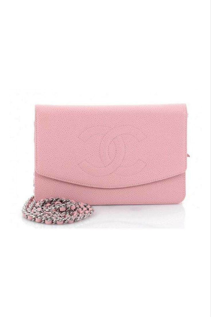 #Chanel Wallet on a Chain in Pink   Chanel Bag   Fashionista   Fashion    Style  #Ad