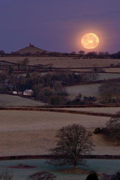 Moonrise ~ Tavistock, Devon, England
